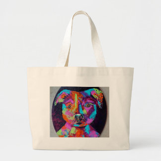 TESSA'S PITBULL LARGE TOTE BAG