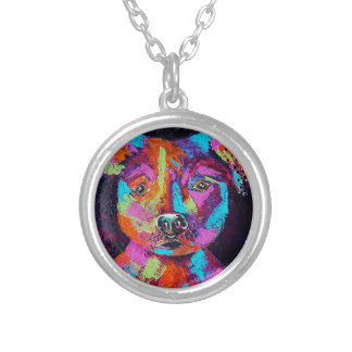TESSA'S PITBULL SILVER PLATED NECKLACE