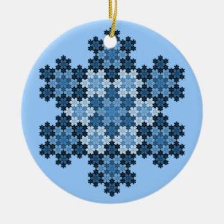 Tessellated Koch Snowflakes Ceramic Ornament