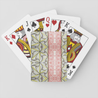 Tessillations in YellowRed, Playing Cards