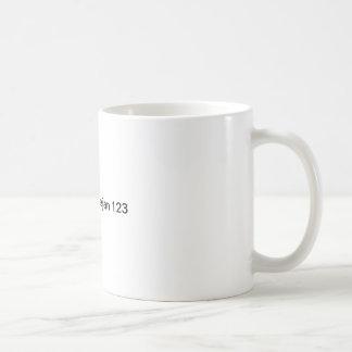 Test 123 classic white coffee mug