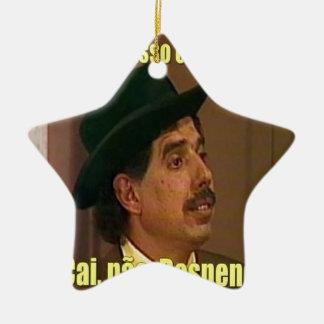 test ceramic star ornament
