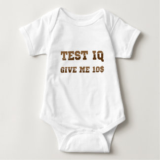 Test iq baby bodysuit
