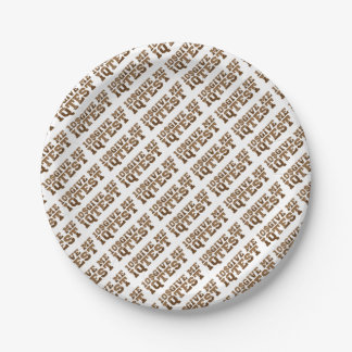 Test iq paper plate