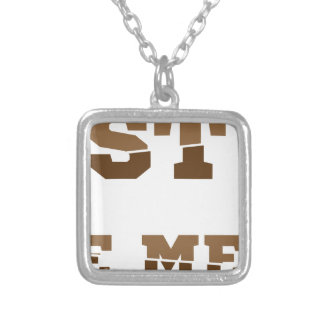 Test iq silver plated necklace