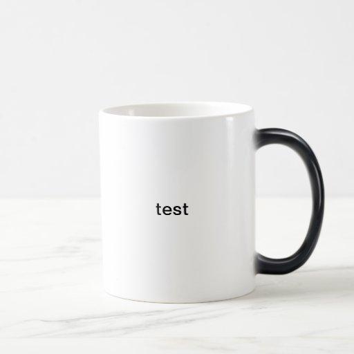 test coffee mugs