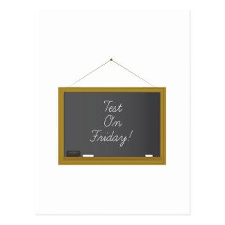 Test On Friday Postcards