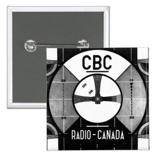 Test Pattern 2 Inch Square Button