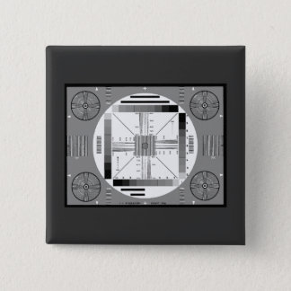 Test Pattern (Air Force) 2 Inch Square Button