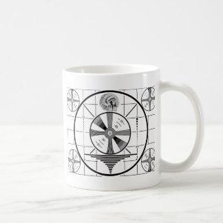 test pattern classic white coffee mug