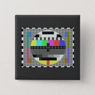 Test pattern novelty (BBC card G) 2 Inch Square Button