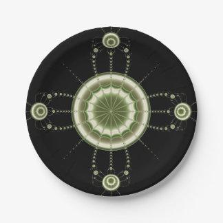 Test Pattern Paper Plate