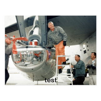 test pilot postcard