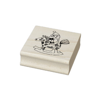 Test Ride Christmas Rubber Stamp