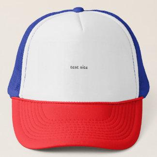 test site red white blue trucker hat