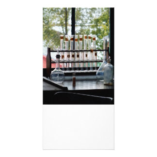 Test Tubes by Window Photo Card Template