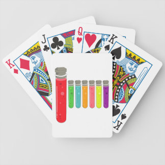 test tubes poker deck