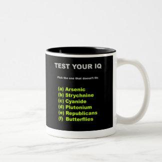 Test Your IQ Two-Tone Coffee Mug