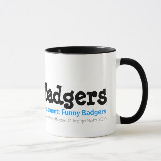 TESTAMENT: FUNNY BADGERS (TM) Dantoo, Hoth and Sol Mug
