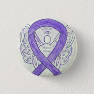 Testicular Cancer Angel Awareness Ribbon Pins