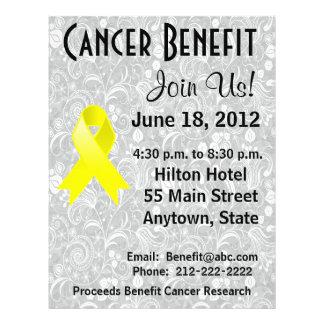 Testicular Cancer Awareness Benefit  Floral Flyer