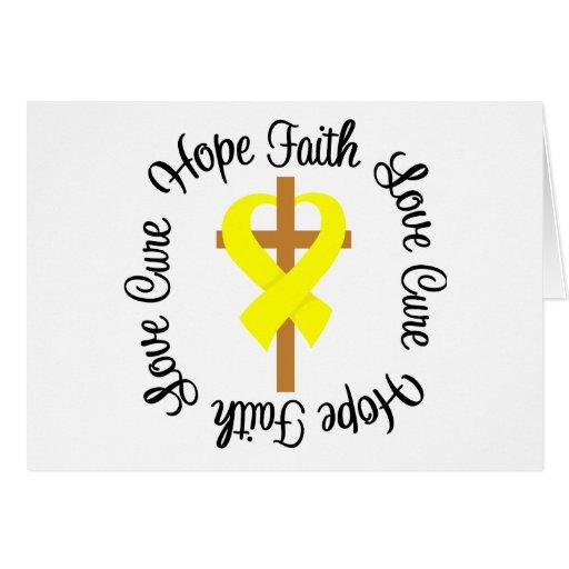 Testicular Cancer Faith Hope Love Cross Greeting Card
