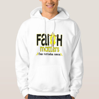 Testicular Cancer Faith Matters Cross 1 Hoodie