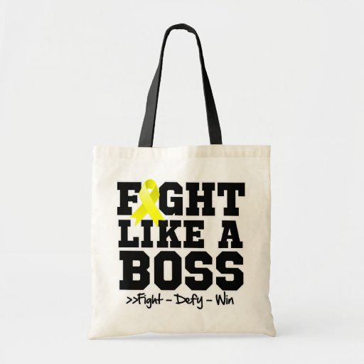 Testicular Cancer Fight Like a Boss Tote Bag