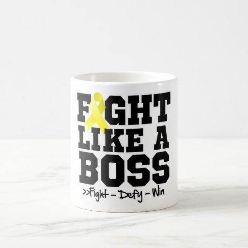 Testicular Cancer Fight Like a Boss Mug