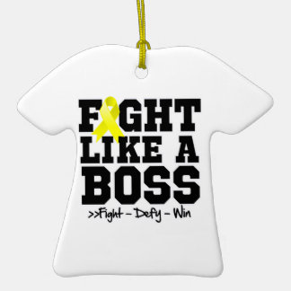 Testicular Cancer Fight Like a Boss Christmas Tree Ornaments