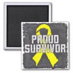 Testicular Cancer Proud Survivor Refrigerator Magnet