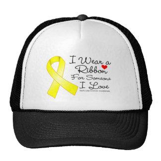 Testicular Cancer Ribbon Someone I Love Trucker Hats