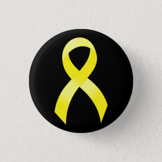 Testicular Cancer Yellow Ribbon 1 Inch Round Button