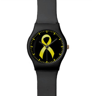 Testicular Cancer Yellow Ribbon Watch
