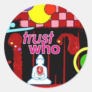 """""""Testimony"""" Classic Round Sticker"""