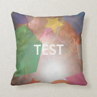 testing geos throw pillow