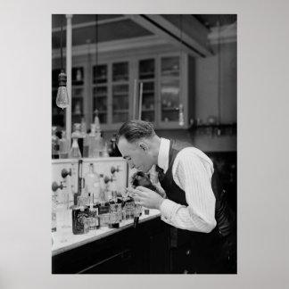 TESTING PROHIBITION LIQUOR  1920 POSTER