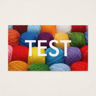 testing yarn business card