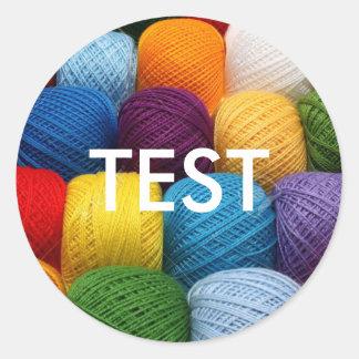 testing yarn classic round sticker