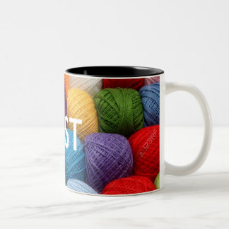 testing yarn Two-Tone coffee mug