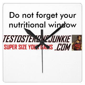 Testosterone Junkie Clock