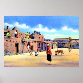 Tesuque New Mexico Pueblo Poster