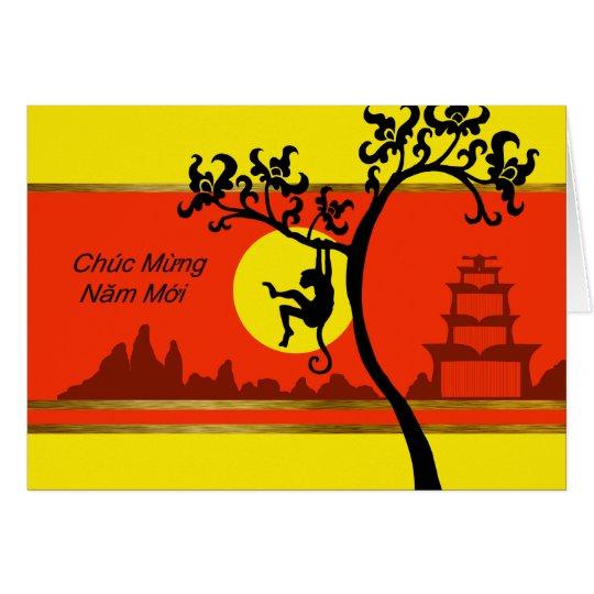 Tet, Vietnamese Lunar New Year of the Monkey Card