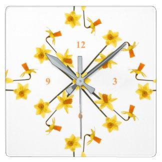 Tête à tête square wall clock