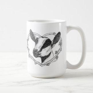 Tête alpine au coeur mugs