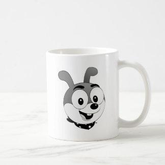 Tête classique de lapin de bande dessinée mug blanc