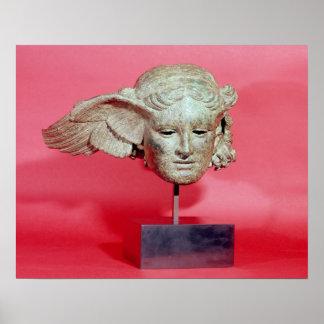 Tête de Hypnos, copie d'un original hellénistique