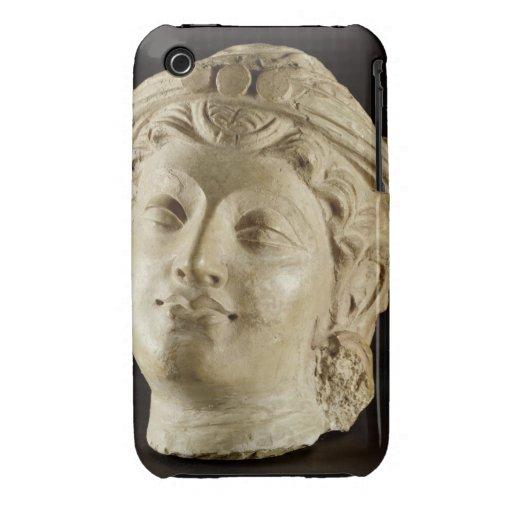Tête de stuc, Gandhara, ANNONCE du 4ème siècle Coques iPhone 3 Case-Mate