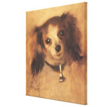 Tête d'un chien par Pierre Renoir, beaux-arts Toile Tendue Sur Châssis