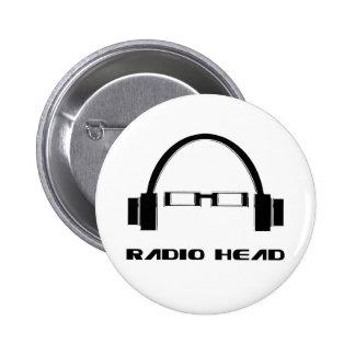 Tête par radio macaron rond 5 cm